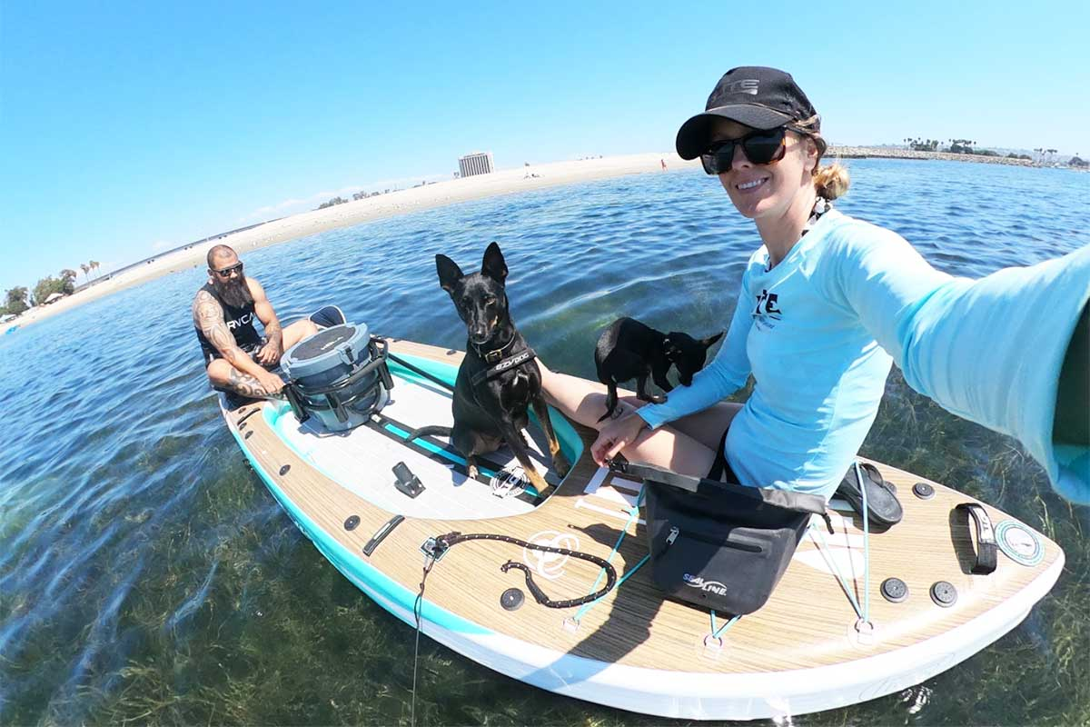 Inflatable paddle boards are easy to store and don't take up much space