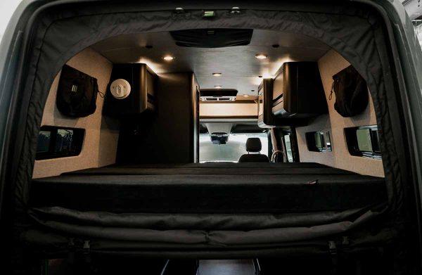 rear door bug screen for Sprinter van (unzipped)