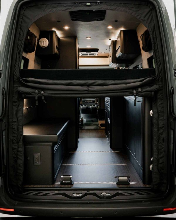 upper and lower bug screen for rear of Sprinter van