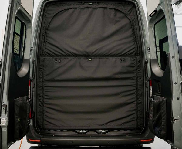 fully protected screen for rear of Sprinter van