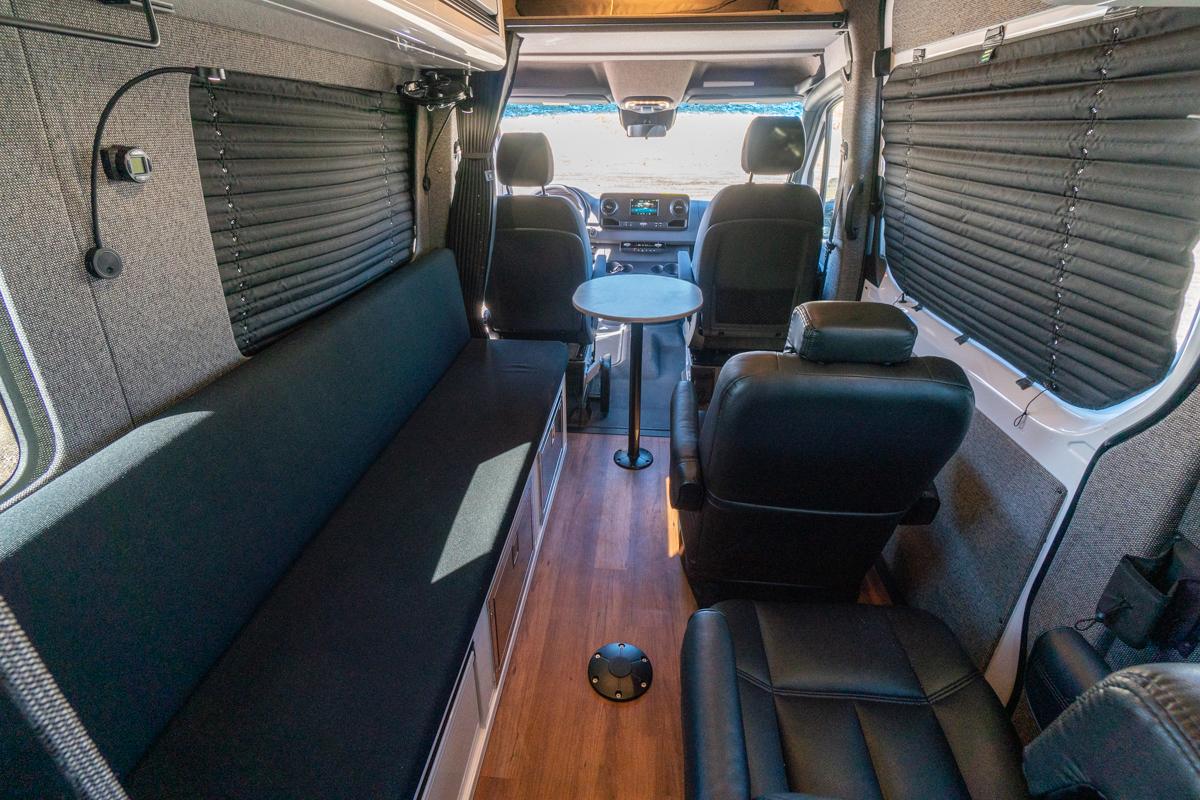 Front interior view of BHTM's van