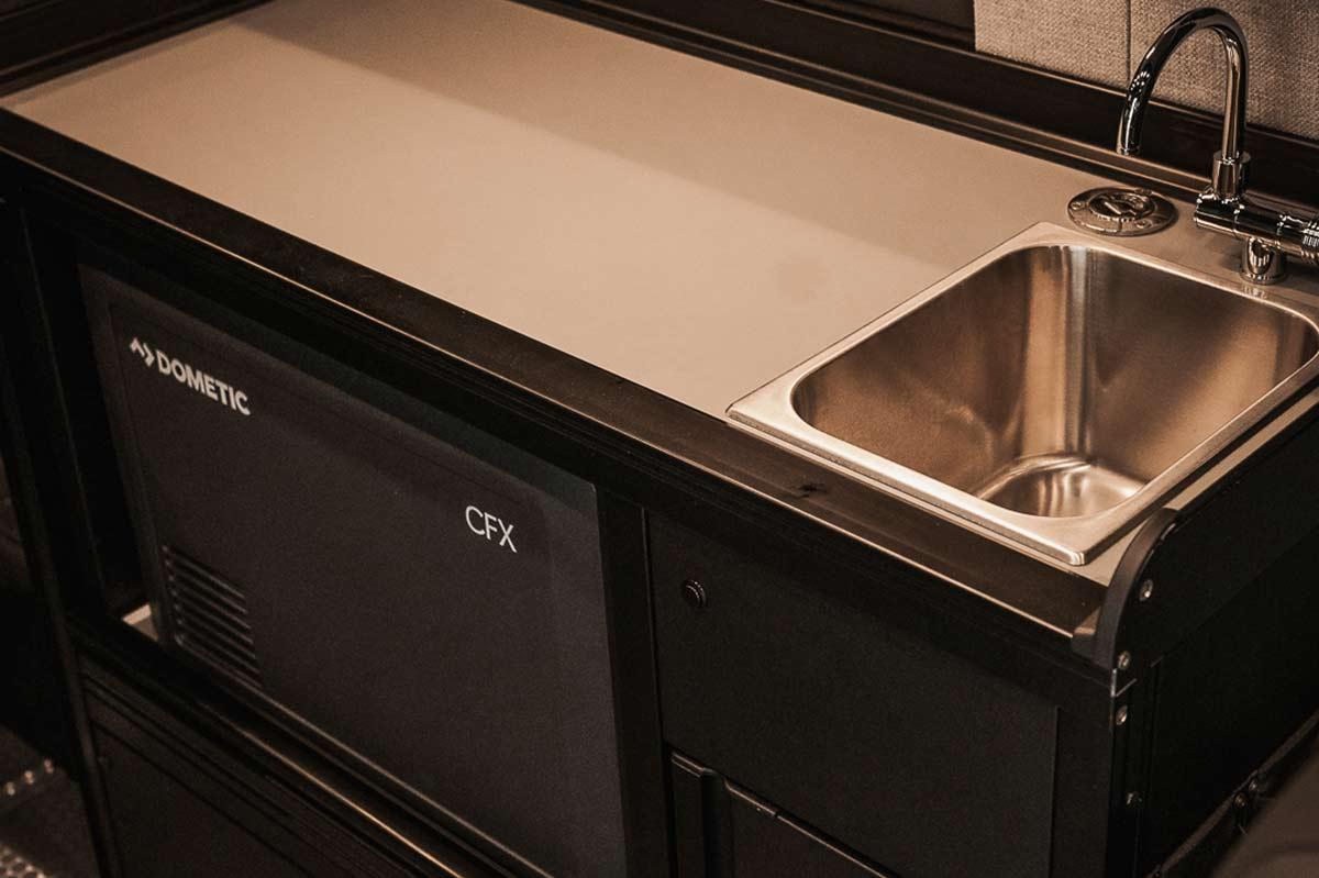 XUV Sprinter van kitchen with sink by TOURIG